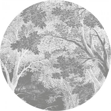 CK-052 Wallpaper Circle Engraved Landscapes