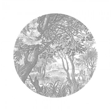 SC-044 Wallpaper Circle Engraved Landscapes