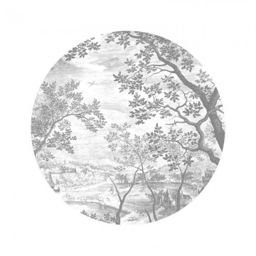 SC-046 Wallpaper Circle Engraved Landscapes