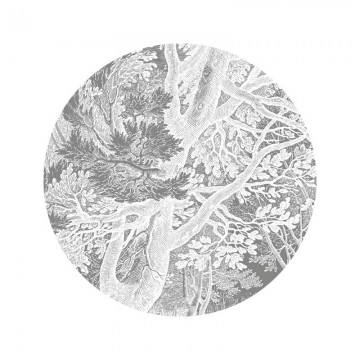 SC-051 Wallpaper Circle Engraved Landscapes