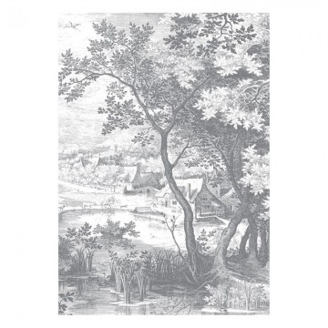 WP-619 Wall Mural Engraved Landscapes
