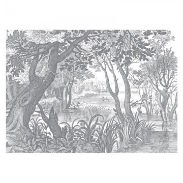 WP-646 Wall Mural Engraved Landscapes
