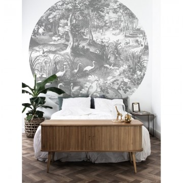 BC-045 Wallpaper Circle XL Engraved Landscapes