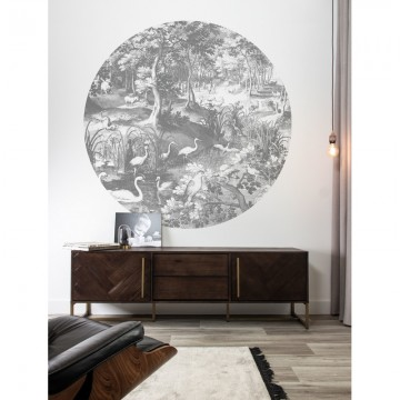CK-045 Wallpaper Circle Engraved Landscapes