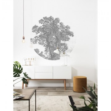 SC-013 Wallpaper Circle Engraved Tree