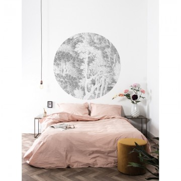 SC-050 Wallpaper Circle Engraved Landscapes