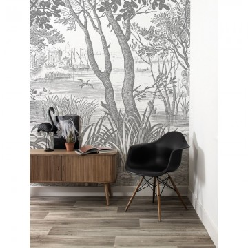 WP-616 Wall Mural Engraved Landscapes