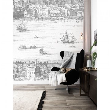 WP-624 Wall Mural Engraved Landscapes