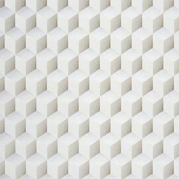 Chrome Cube 3D Blanc 28350109