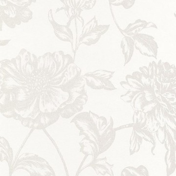 Shine Fleur Gravure Blanc-Blanc 68630000