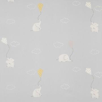 MWS29986214 ELEPHANTS BLEU MOUTARDE