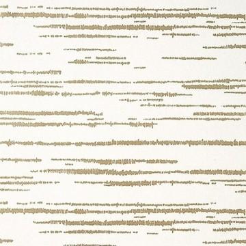 Echo Metallic Gold On White T10454