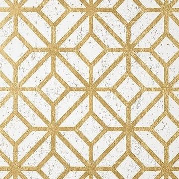 Mamora Trellis Cork White On Metallic Gold T10411