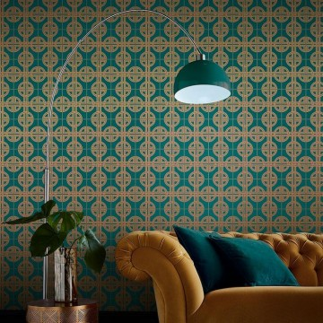 Asian Lattice Teal 105780