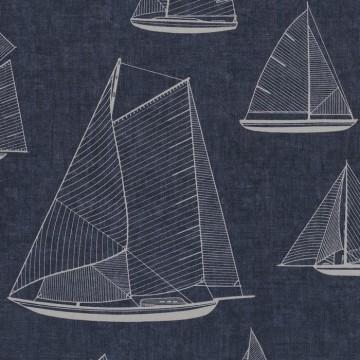 Tissu Armada Blanc-Bleu RIVG84246505