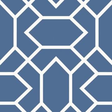 Autodhesivo Geometrico Azul 127-RMK9066WP