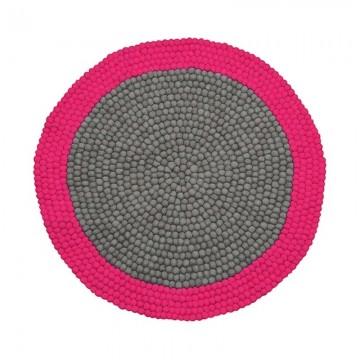 Alfombra bolas de fieltro Mix Pink H0195
