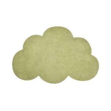 Alfombra nube de color verde claro h0515