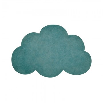 Alfombra nube de color verde h0516