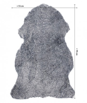 Alfombra piel de Oveja azul - Colección Curly la30120