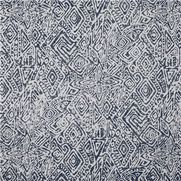 6147 AFRICANA - NAVY ON WHITE PAPERWEAVE