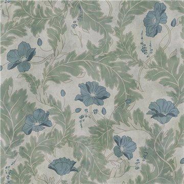 Mural 660-38 Poppy Garden Green