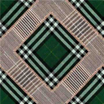Checkered Patchwork British Green WP20389