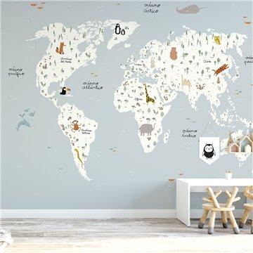 Mural Mapa del mundo nordico