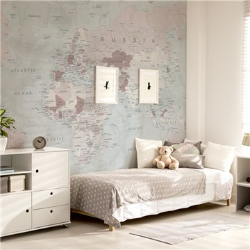 Mural Mapa del mundo pale