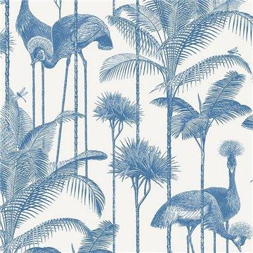 Crane Fonda Ecru Blue DVS071