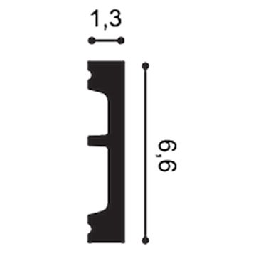 ZÓCALO DX157-2300-RAL9003 SQUARE