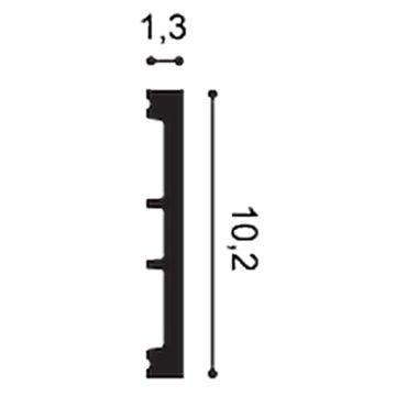ZÓCALO DX163-2300-RAL9003 SQUARE
