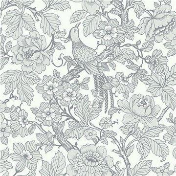 Beaufort Light Grey Flowers & Birds Chinoiserie ECB80408