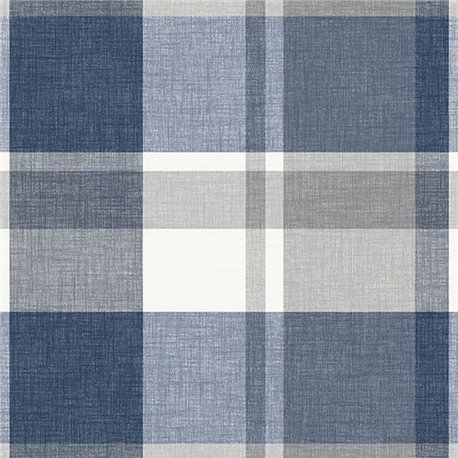 Madaket Blue & Grey Textured Plaid ECB81102
