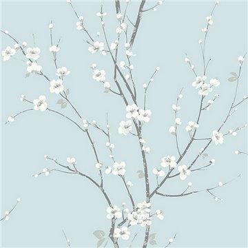 Monterey Sky Blue Floral Branch ECB81802