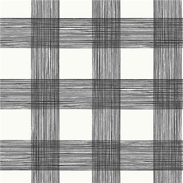 Scarborough Black Striated Plaid ECB80900