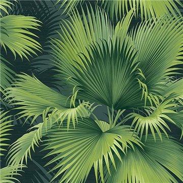 Summer Palm Dark Green Tropical Leaf ECB40104