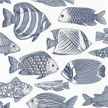 Wailea Indigo Tropical Fish ECB80202