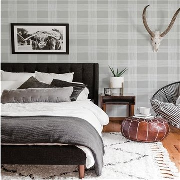 Scarborough Grey Striated Plaid ECB80908