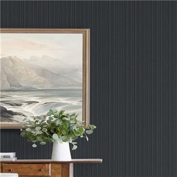 Sebasco Black Vertical Pinstripe Textured ECB80300
