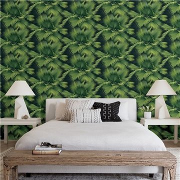 Summer Palm Dark Green Tropical Leaf ECB40104