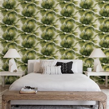 Summer Palm Green Tropical Leaf ECB40114