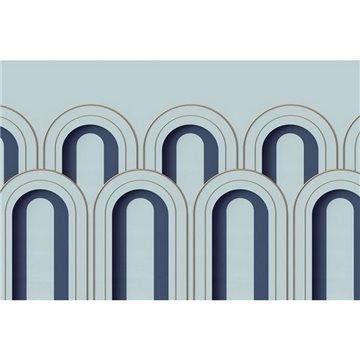 Arch Deco Blue R16102