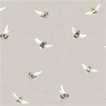 Bumblebee Linen Wallart 1522838134