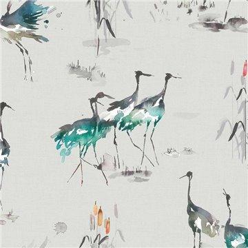Cranes Cobalt Wallart 1524827502
