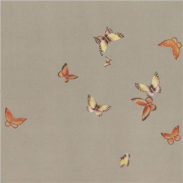 Butterflies Butterflies Echo on dyed paper