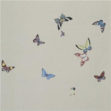 Butterflies Butterflies Icarus on Rose Shadow metallic silk