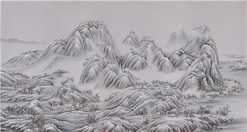 A Thousand Li of Rivers and Mountains A Thousand Li of Rivers and Mountains Full custom on Lilac Hint dyed Silk
