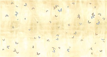 Butterflies Butterflies Full custom on Deep Rich Gold gilded paper
