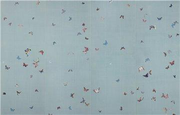 Butterflies Butterflies Icarus on Azure India tea paper